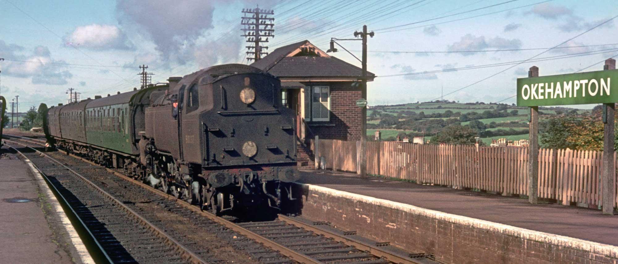 80037 at Okehampton station, 1964