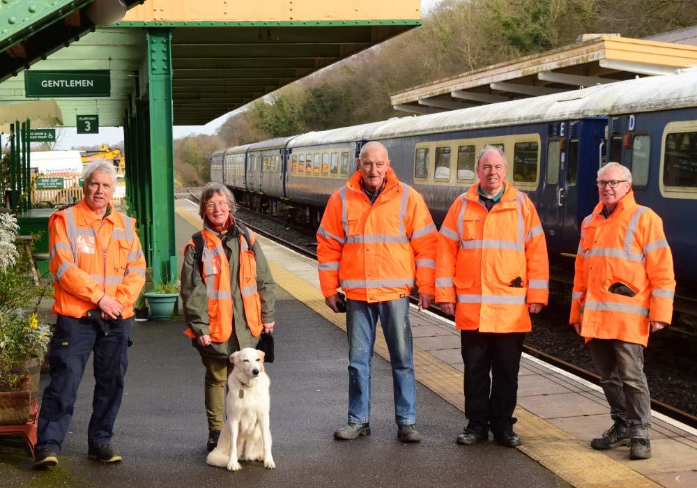 Dartmoor Railway Supporters' Association volunteers