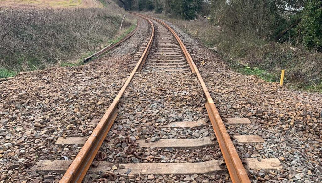 Track laid between Coleford Junction and Okehampton