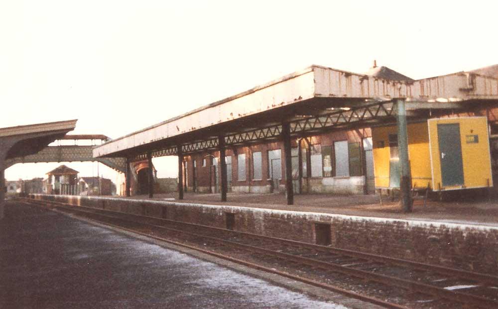 Okehampton station, 1986.