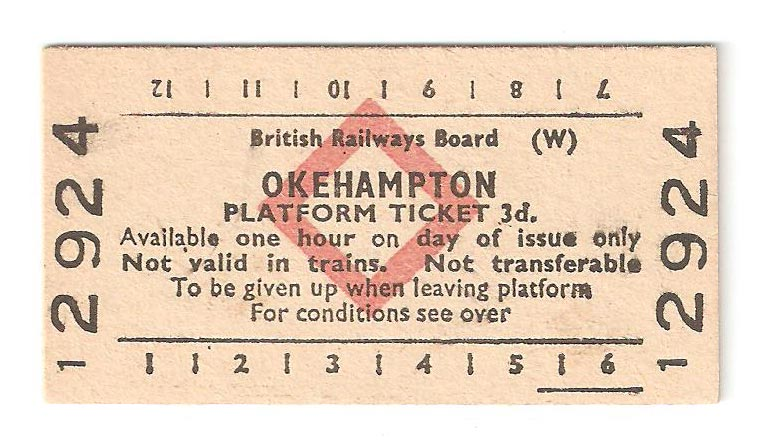 Okehampton platform ticket 3d.
