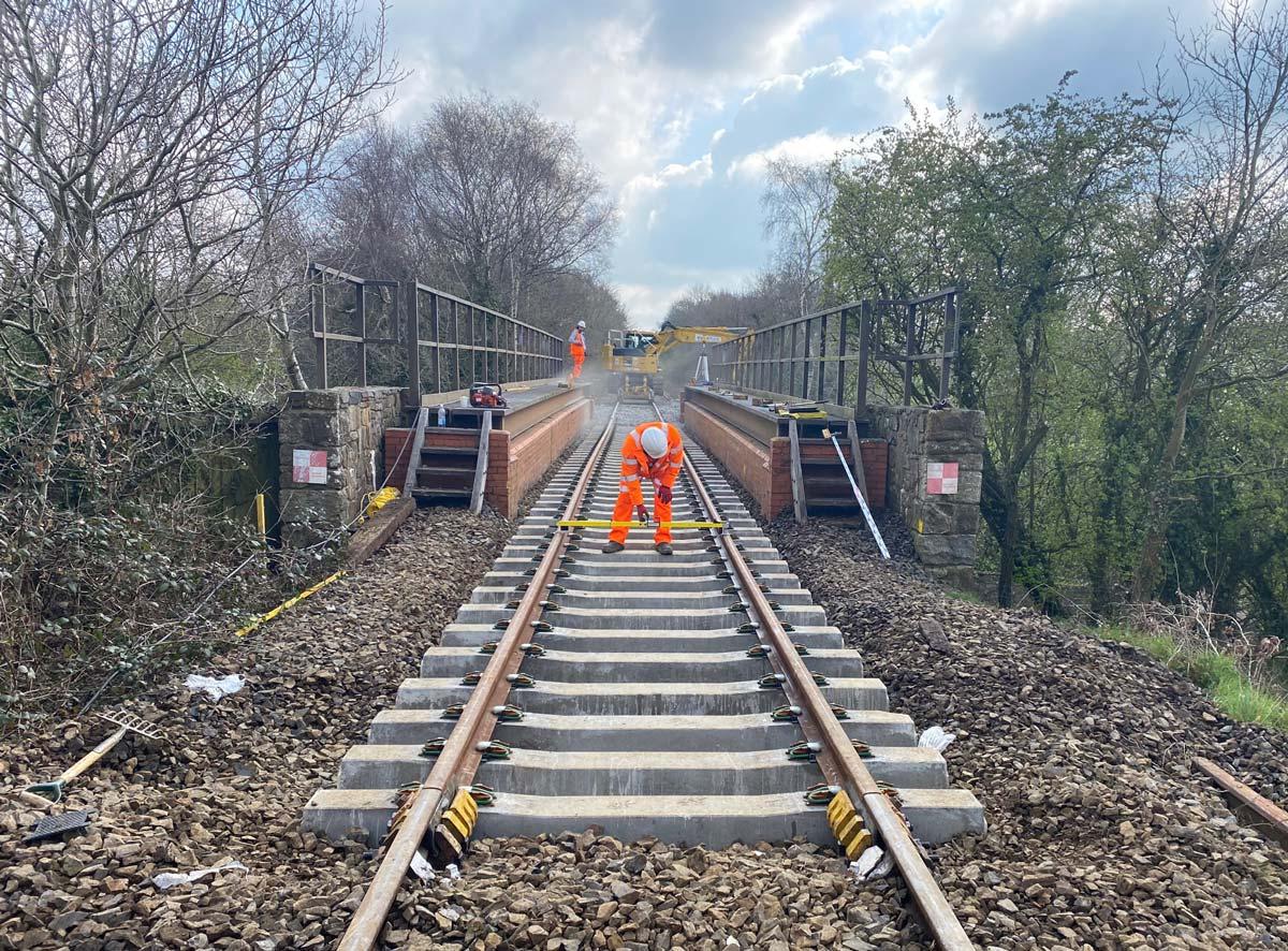 New track on North Tawton bridge