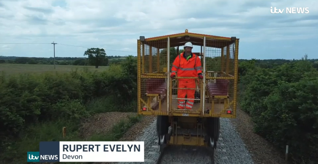ITV reporter Rupert Evelyn on the Dartmoor Line