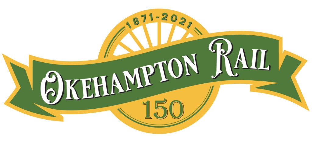 1871-2021 Okehampton Rail 150 logo