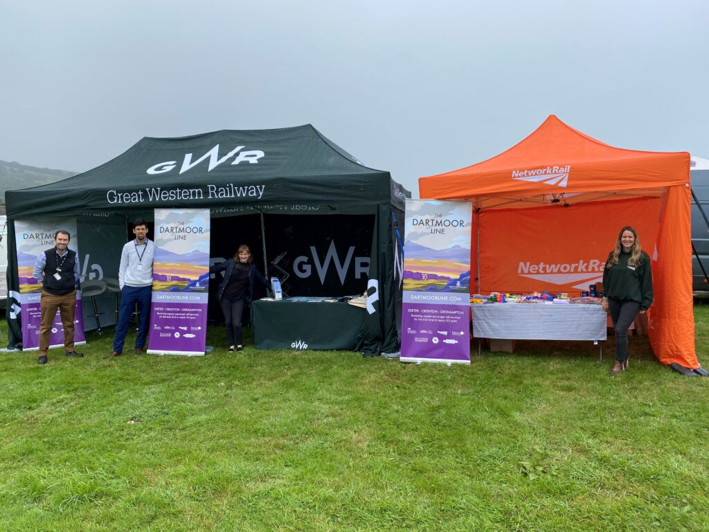 GWR and Network Rail tents at the Okehampton Show 2021