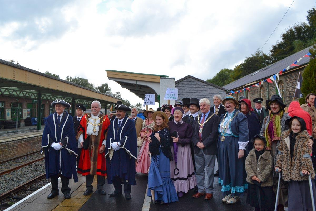 Community celebrates 150th anniversary of Okehampton's railway