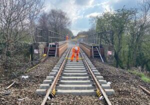 New track on North Tawton bridge