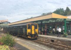 GWR train at Okehampton station